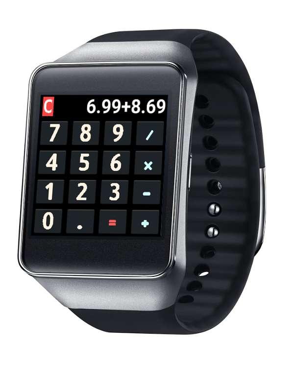 Aplicación para smartwatch calculadora