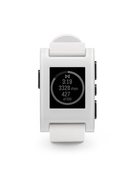 pebble original blanco frontal