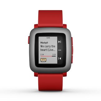 Pebble Time Rojo