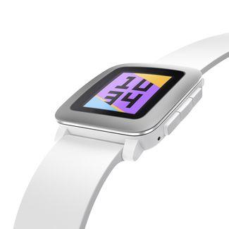comprar reloj inteligene pebble time blanco