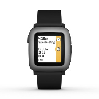 comprar smartwatch pebble time negro
